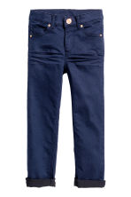 Twill trousers - Dark blue - Kids | H&M CN 1