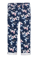 Twill trousers - Dark blue/Butterflies - Kids | H&M CA 2