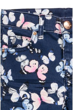 斜紋長褲 - Dark blue/Butterflies -  | H&M 3