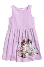 Sleeveless jersey dress - Purple/Cats - Kids | H&M 2