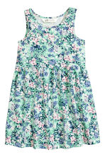 Sleeveless jersey dress - Mint green/Floral - Kids | H&M CN 2