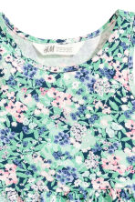 Sleeveless jersey dress - Mint green/Floral - Kids | H&M 3