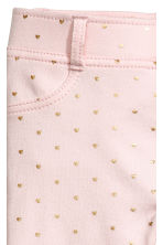 Jersey treggings - Light pink/Heart - Kids | H&M CN 3