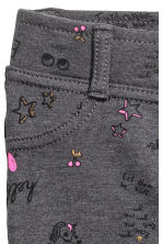 Jersey treggings - Dark grey/Patterned - Kids | H&M CN 2