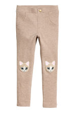 Treggings - Beige/Cat -  | H&M 2