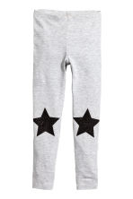 Jersey leggings - Light grey/Stars - Kids | H&M 2