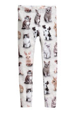 Jersey leggings - Gray/animal - Kids | H&M CA 2