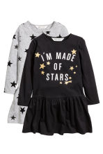 2-pack jersey dresses - Grey/Stars -  | H&M 2
