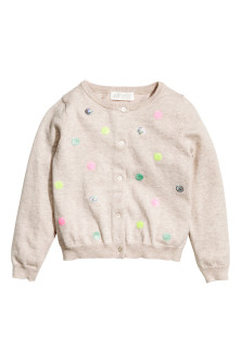 Sequined cotton cardigan