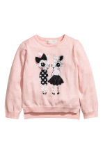 Sequined jumper - Light pink -  | H&M CN 2
