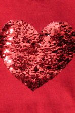Sequined jumper - Red/Heart - Kids | H&M CN 3