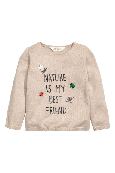 Fine-knit jumper - Beige - Kids | H&M GB