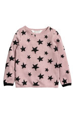 Fine-knit jumper - Old rose/Stars - Kids | H&M 2