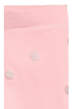 Sturdy jersey leggings - Light pink/Spotted - Kids | H&M CN 2