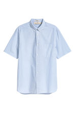 Short-sleeve shirt Regular fit - Light blue - Men | H&M 2
