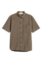 Short-sleeve shirt Regular fit - Khaki - Men | H&M 2