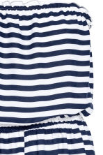Strapless playsuit - White/Dark blue/Striped - Ladies | H&M CN 3