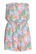 Strapless playsuit - Light pink/Patterned - Ladies | H&M 2