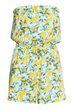 Strapless playsuit - Turquoise/Lemons - Ladies | H&M CN 2
