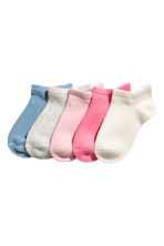 5-pack shaftless socks - Light pink - Kids | H&M 1