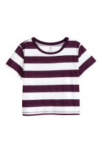 Jersey top - Plum/Striped -  | H&M CN 2