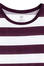 Jersey top - Plum/Striped -  | H&M CN 3