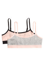 2-pack crop tops - Powder pink - Kids | H&M CN 1