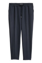 H&M+ Pull-on trousers - Dark blue/Pinstriped - Ladies | H&M GB 2