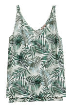 H&M+ V-neck top - Natural white/Palms - Ladies | H&M 2
