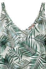 H&M+ V-neck top - Natural white/Palms - Ladies | H&M 3