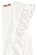 H&M+ Embroidered cotton blouse - White - Ladies | H&M CN 3