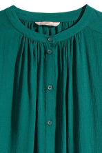 H&M+ Textured blouse - Green - Ladies | H&M CN 2