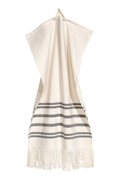Striped guest towel - Natural white - Home All | H&M CN