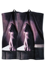 2-pack guest towels - Black/Cat - Home All | H&M CN 1