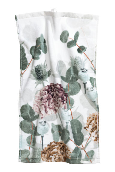 2-pack guest towels - White/Leaves - Home All | H&M CN 1