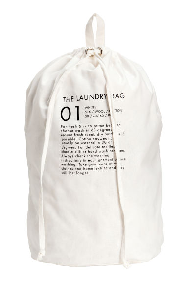 Wall-hanging laundry bag - White - Home All | H&M CN