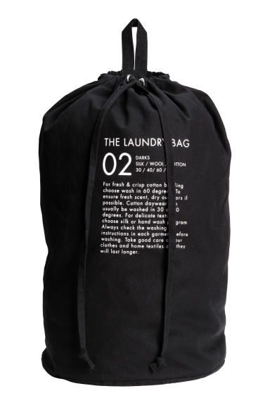Sac à linge mural - Noir - HOME | H&M BE 1