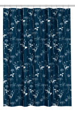 Patterned shower curtain - Dark blue - Home All | H&M CN 1