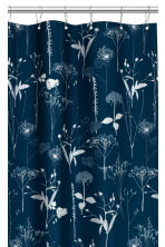 Patterned shower curtain - Dark blue - Home All | H&M CN 2