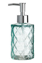 Glass soap dispenser - Turquoise - Home All | H&M CN 1