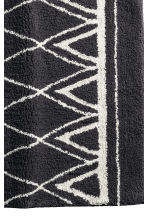 Jacquard-weave bath mat - Dark grey/Patterned - Home All | H&M CN 2