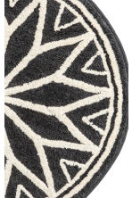 Jacquard-weave bath mat - Dark grey/Natural white - Home All | H&M GB 2