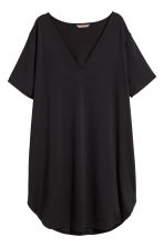 H&M+ V-neck jersey tunic - Black - Ladies | H&M 2
