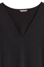 H&M+ V-neck jersey tunic - Black - Ladies | H&M 3