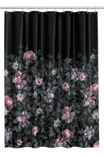 Photo print shower curtain - Black/Floral - Home All | H&M GB 2