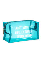 Transparent make-up bag - Turquoise - Ladies | H&M 2