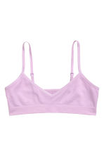 2-pack jersey crop tops - Light purple -  | H&M 2