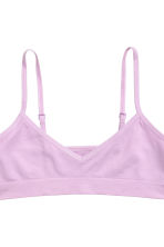 2-pack jersey crop tops - Light purple -  | H&M 4