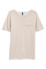 Fine-knit cotton T-shirt - Light mole - Men | H&M 2