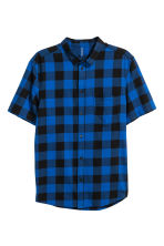 Short-sleeved flannel shirt - Blue/Checked - Men | H&M 2